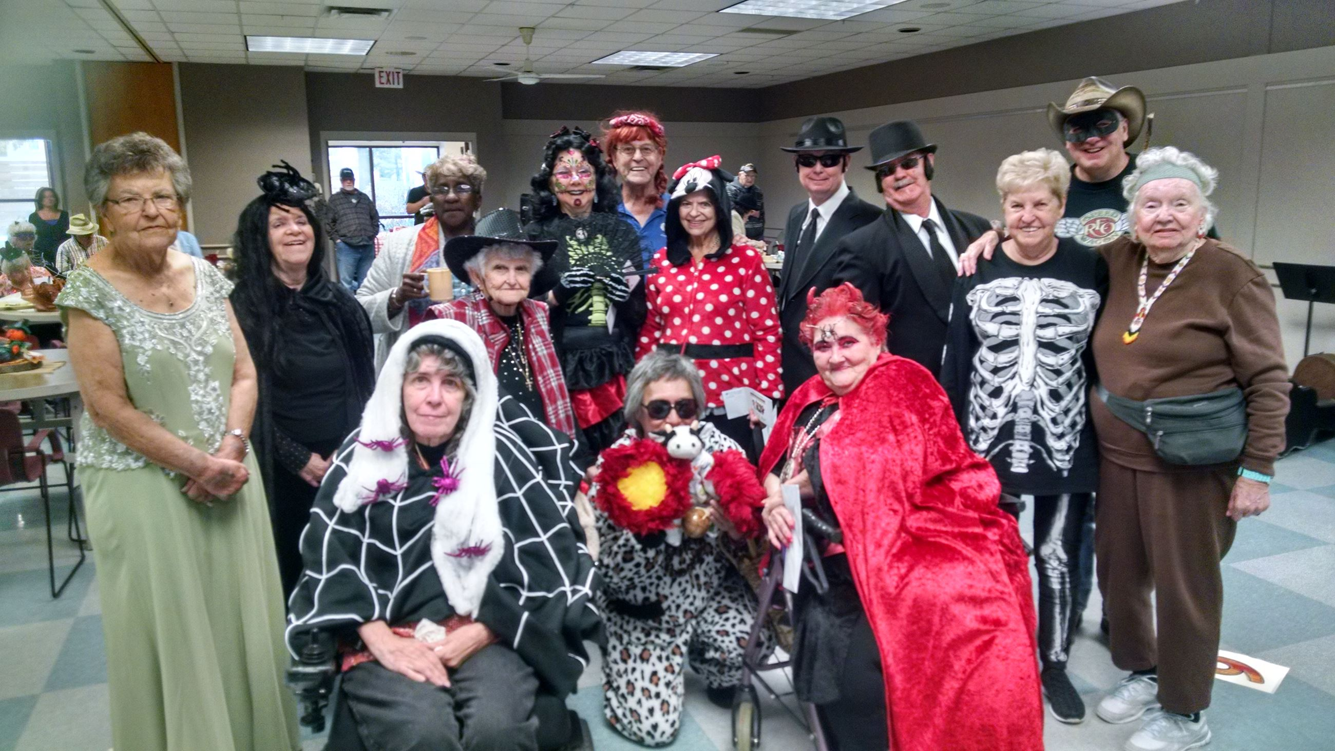 Vesper Hall Halloween group photo
